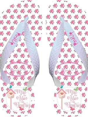 e6824fc4e Chinelo Personalizado - Maternidade Gêmeos