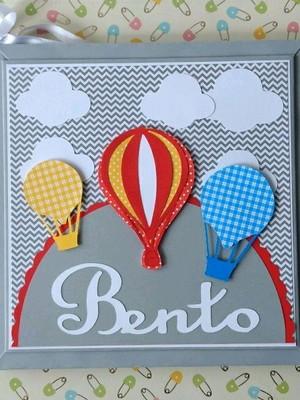 Diário Bebê Balões coloridos personalizado scrapbook menino