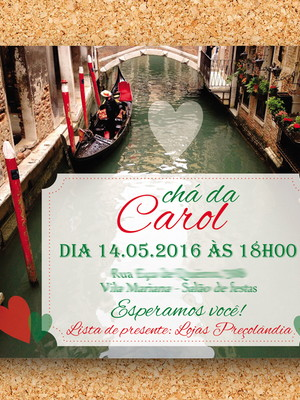 Convite Chá de Cozinha Itália - digital