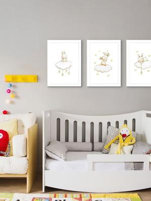 Quadros Minimalistas para Quarto de Bebê, Moldura e Vidro