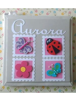 Livro do Bebê menina personalizado Jardim Encantado scrap
