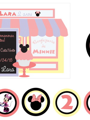 Kit Festa Confeitaria da Minnie - digital