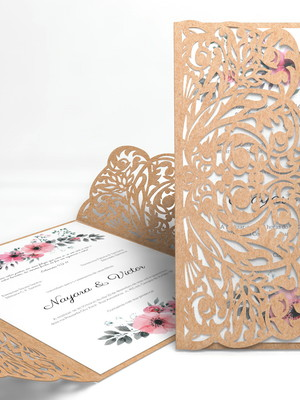 Arquivo de corte Convite de casamento Vazado