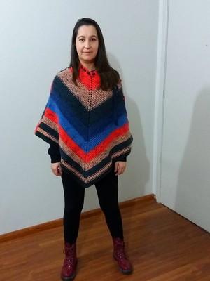Cape ou Poncho em tricot