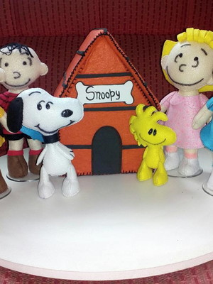 TURMA DO SNOOPY DE FELTRO -KIT POKET 2