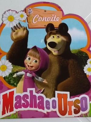 Convite Especial Masha e o Urso (01 unidade.)