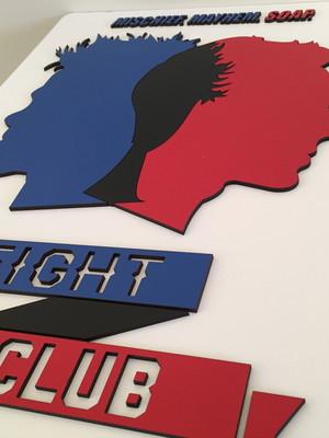 Quadro / Painel Decorativo Fight Club