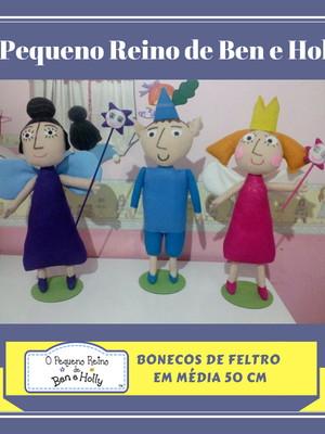 O pequeno reino de Ben e Holly KIT 3 bonecos decorativos