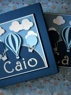 caderno personalizado e Caixa balões chá bebê maternidade