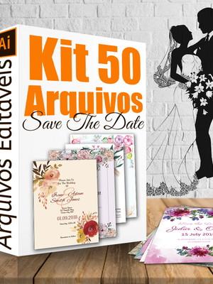 Kit 50 ARQUIVOS para convites de casamento