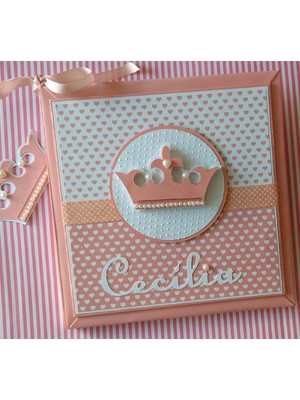 Livro do Bebê personalizado menina Princesinha fofa