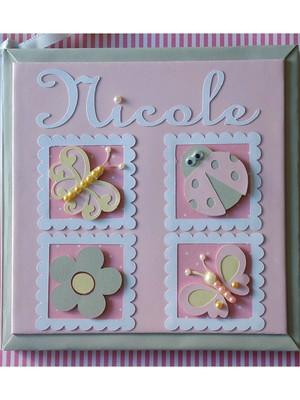 livro bebê menina personalizado jardim encantado rosa cinza