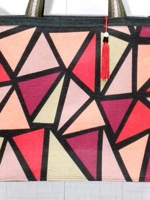 Sacola de Tecido Vermelha com Zíper 32x10x40 cm