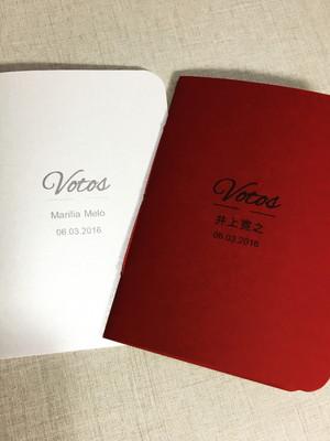 Livro de votos marsala - casamento (o par)