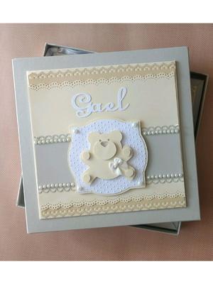 livro diário bebê menino personalizado e caixa ursinho scrap