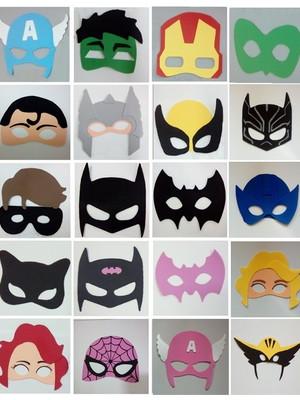 Máscaras Infantis de Super-Heróis de eva