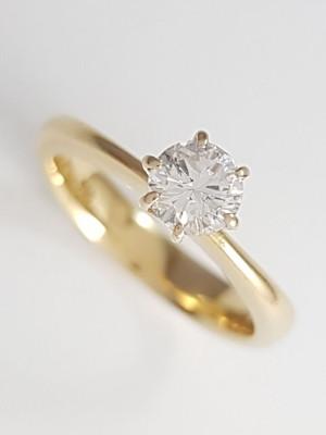 Anel Solitário Diamante de 40 Pontos