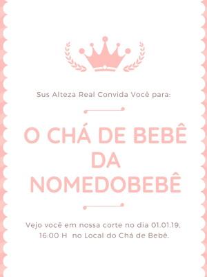 Convite Chá de Bebê Pequena Princesa