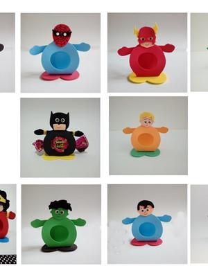 Porta bombom de EVA tema Super Heróis