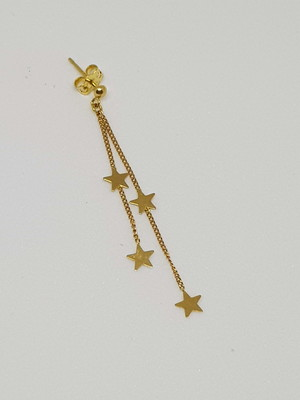 Brincos de Ouro 18k com Estrelas