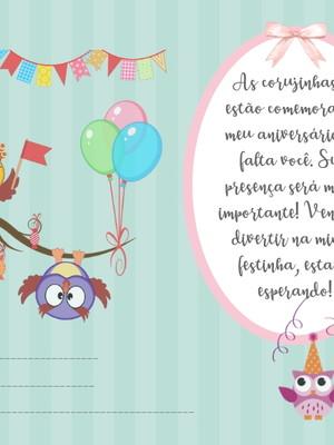 Convite Corujinhas 001