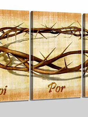 Quadro Personalizado Tela Foi Por Amor Coroa Cristo
