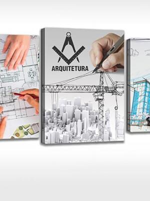 Quadro Personalizado Tela Engenharia Civil, Arquitetura