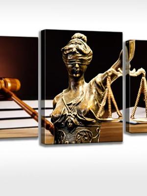 Quadro Personalizado Tela Escritório Advocacia Dama Justiça