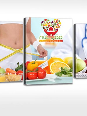 Quadro Personalizado Tela Consultório Nutricionista Nutrição