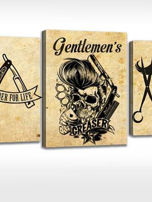 Quadro Personalizada Salão de Beleza Barber Shop Barbearia