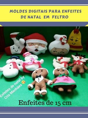 MOLDES DIGITAIS PARA ENFEITES DE NATAL (10 PEÇAS)