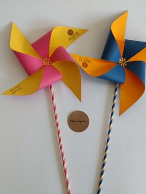 Cata vento de papel personalizado - 20cm