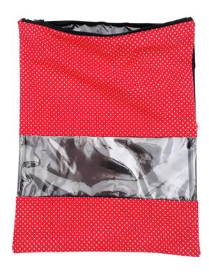 Saquinho com visor e zíper plastificado por dentro 32x40 *