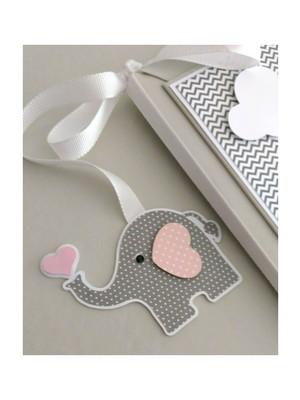 álbum diário bebê menina elefantinho rosa e cinza chevron