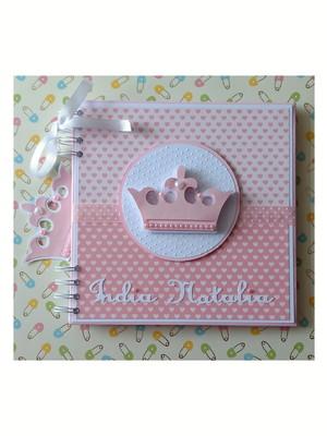 caderno personalizado menina chá de bebê princesinha cute