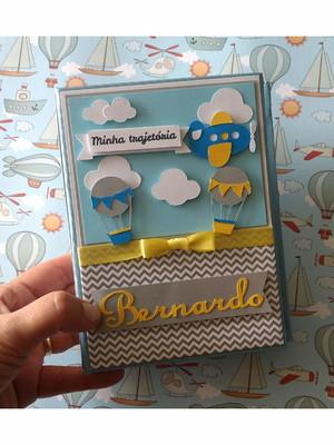 Álbum Personalizado fotos menino scrapbook balão 10X15