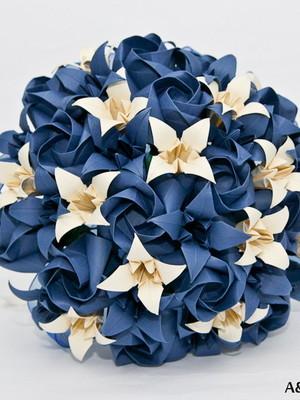Buquê de rosas com lírios II {noiva}
