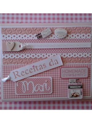Caderno de Receitas Fichário Personalizado chá de cozinha