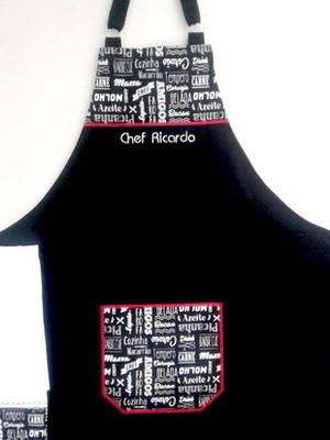Avental Masculino personalizado com nome bordado