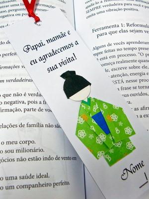 Marcador de origami - Menino