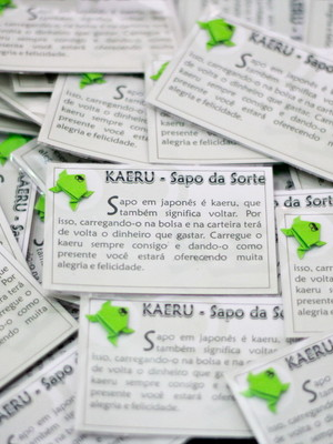 Amuleto Kaeru - Sapo da Sorte