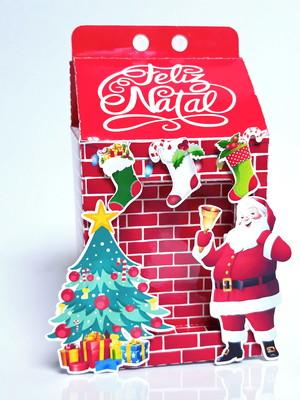 Caixa milk Lareira de Natal Arquivo de corte