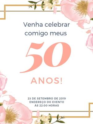 Convite Aniversário 50 Anos M001