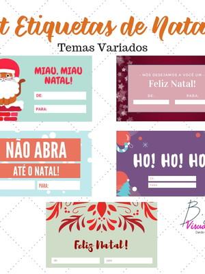 Kit 5 Etiquetas Natal