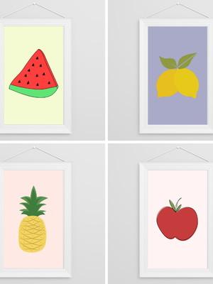 Conjunto de Artes Digitais - Frutas