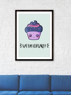 Arte Digital Quadro Cupcake