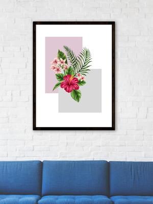 Arte Digital Quadro Floral