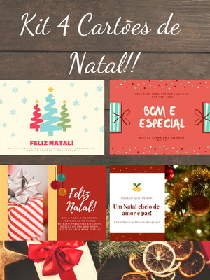 Kit Cartões de Natal