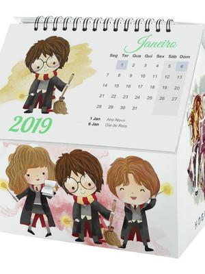 Calendario Harry Potter silhouette