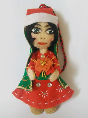 Enfeite de Natal em feltro - Khorshid Noel